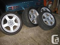2003 corvette stock wheels and tires, 18 x 9.5 rears for sale  British Columbia