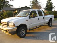 Great work truck, white F-350 pickup Crew Cab, Diesel