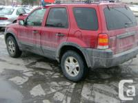 Make Ford Model Escape Year 2003 Colour red kms 197200