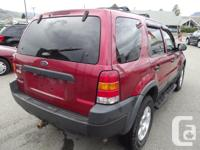 Make Ford Model Escape Year 2003 Colour Red kms 182000
