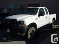 2003 FORD F250 4X4  WHITE, AUTO, EXT CAB, 5 PASS, 4X4,