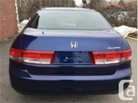 Make Honda Model Accord Year 2003 Colour Blue kms