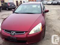 Make Honda Model Accord Year 2003 Colour RED kms