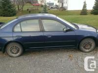 Make Honda Model Civic Sedan Year 2003 Colour Blue kms