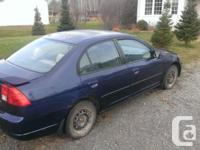 Make. Honda. Version. Civic Sedan. Year. 2003. Colour.