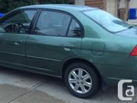 Make Honda Model Civic Sedan Year 2003 Colour Green
