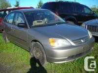 DISMANTLING 2003 HONDA CIVIC FOR PARTS, 5 SPEED, AIR,