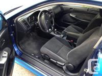 Make Honda Model Civic Si Colour Cobalt Blue Trans