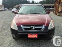 Make Honda Model CR-V Year 2003 Colour Red kms 137000