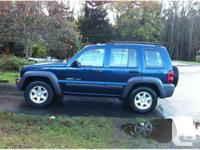 2003 Jeep Liberty Sport Blue on Charcoal Interior 3.7L