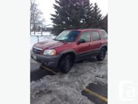 2003 Mazda Tribute 217000 kms 6 cyl, 3.0 L engine 4x4,