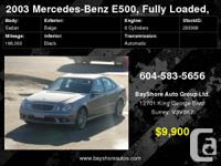 2003 Mercedes Benz E500, AMG Rims, Comes with 2 years