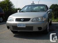 2003 NISSAN SENTRA GXE automatic,4doos, Ice cold A/C,