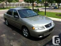 2003 Nissan Sentra XE,Unlimited Km Power Train Warranty