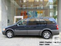 Make Pontiac Model Montana Year 2003 Colour Blue kms