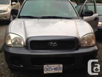 Make. Hyundai. Model. Santa Fe. Year. 2003. Colour.