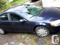 Make Chrysler Model Sebring Year 2003 Colour blue kms
