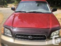 Make Subaru Model Outback Year 2003 Colour Maroon kms