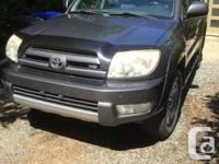Make Toyota Model 4Runner Colour grey Trans Automatic
