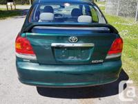 Make Toyota Year 2001 Colour GREEN Trans Manual kms