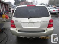 Make Toyota Model Highlander Year 2003 Colour GOLD kms