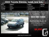 2003 Toyota Sienna 5dr CE ON SALE WITH POWER OPTIONS