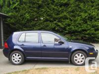 Make Volkswagen Model Golf Year 2003 Colour blue kms