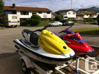 Up for customer or trade for a bowrider boat is a 2003