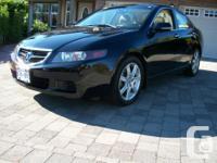 Make Acura Model TSX Colour Black Trans Manual kms