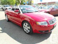 2004 audi a4 convertible auto 1.8L turbo leather power