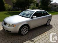 2004 AUDI A4 1.8 T SILVER, AUTOMATIC, NATURAL LEATHER,
