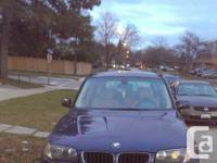 I AM SELLING A 2004 BMW X3 2.5i IN PERFECT DRIVING