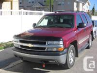 2004 Tahoe 5.3 Litre with Tow package. 4x4.  8 pax.