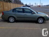 Make Chevrolet Model Malibu Year 2004 Colour Green kms