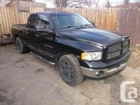 Make Dodge Model Ram 1500 Year 2004 Colour Black kms