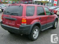 Make Ford Model Escape Year 2004 Colour Red kms 185000