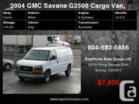 2004 GMC Savana Cargo Van 2500, local no