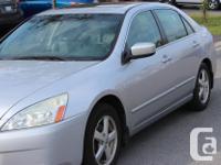Make Honda Model Accord Year 2004 Colour Silver kms