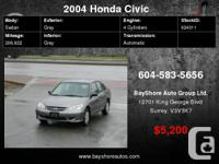 2004 Honda Civic 4dr Sdn, FEW IN STOCK, ON SALE