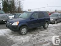 Make. Honda. Version. CR-V. Year. 2004. Colour. Blue.