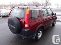 Make Honda Model CR-V Year 2004 Colour RED kms 151960