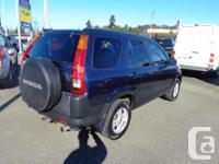 Make Honda Model CR-V Year 2004 Colour blue kms 177000