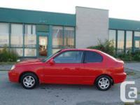 Hyundai Accent GS 2004,Rouge, 160 000 km, automatique,