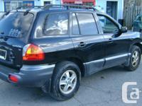 Make Hyundai Model Santa Fe Year 2004 Colour black kms