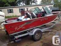 2004 Lund rebel 1650 DC with a 60 horse Johnson four
