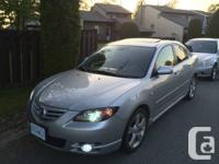 Marketing my 2004 Mazda 3 2.3 GT.  It's a 5 rate manual