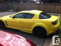 Make Mazda Model RX-8 Year 2004 Colour Yellow kms