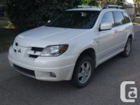 Make Mitsubishi Model Outlander Year 2004 Colour White
