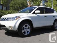 Make Nissan Model Murano Year 2004 Colour White kms