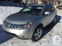 Make Nissan Model Murano Year 2004 Colour Silver kms